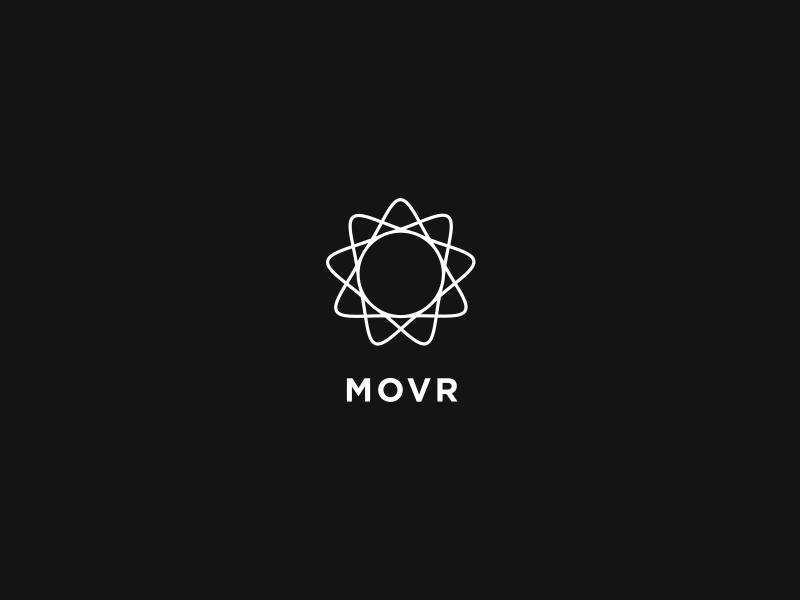 MOVR Landing settle moving minimal logo branding movr