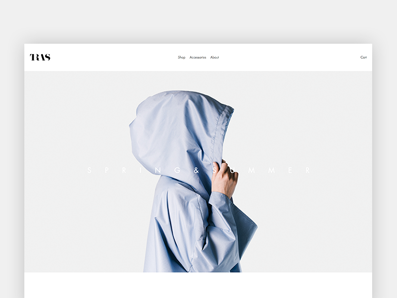TRAS's new website fashion shop tras commerce minimal photography collection webdesign squarespace website