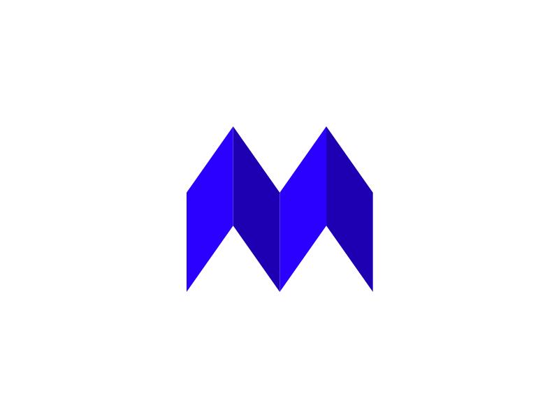 M mark exploration letter m logo symbol mark