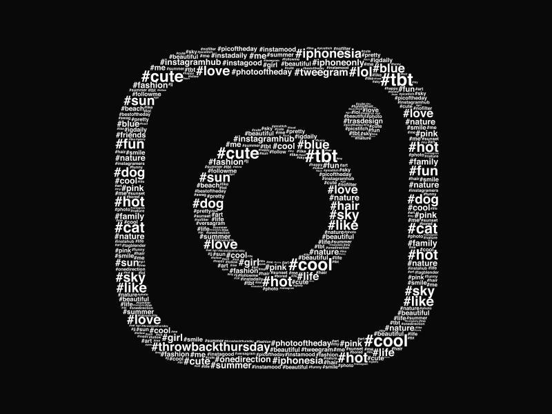 Instagram Hashtag Artwork logo icon comment popular hashtag insta instagram