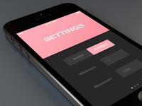 Randm. settings panel