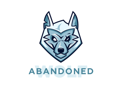Abandoned wolf logotypes logotype logomaker logodesign logo illustration character cartoonlogo