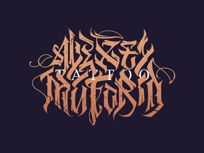 Alexey Matorin tattoo tattoo logo calligraphy lettering handdrawn