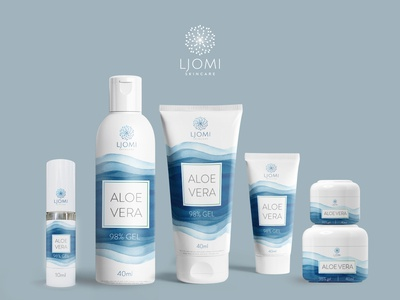Packaging design for Aloe Vera Gel product series.