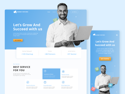 GARIBAY VENTURES-LANDING PAGE investment money bold capital ventura simple landingpage easy cleanui clean figmadesign uiux ui figma design