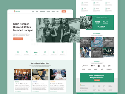 Kids Love- Landing Page foundation love green landingpage kids website ui uiux figma figmadesign design