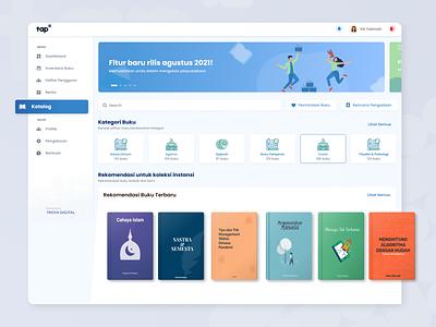 Academic Platform Dashboard Book Catalog graphic design book dashboard catalog book academic dashboard website ui uiux figma figmadesign design