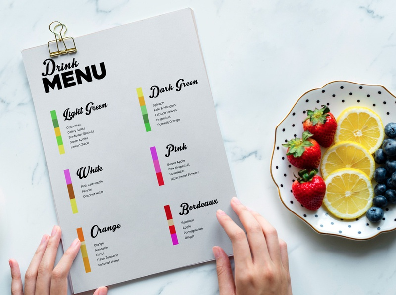 Pere - Artistic Juice Mixes Menu