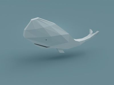 Poly Whale