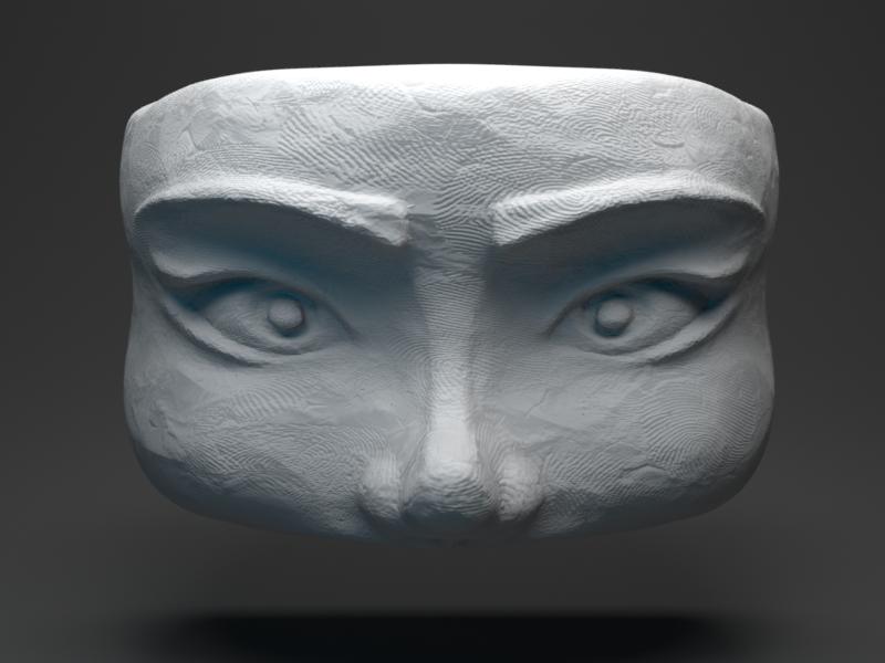 Sculpt Face - Week 001 digitalsculpting blenderart digital3d 3dsculpture blendersculpt highpoly 3d modeling 3d render b3d blender