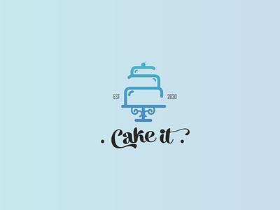 Cake logo illustration design minimal fun illustration baked cute cake logo cake shop bake bakery cake