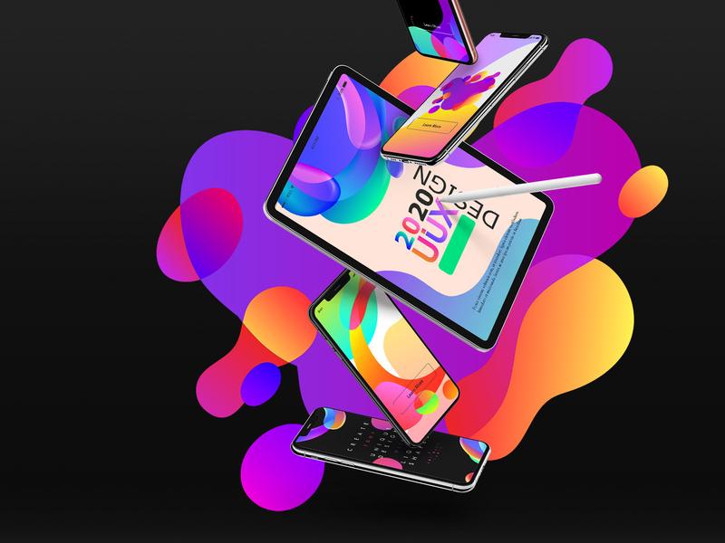 Vector neon vivid liquid shapes for branding design, apps, web vivid colors liquid shapes abstract branding animation flat web app typography ux ui design vector