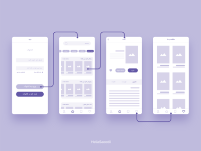 Bookstore App Wireframes