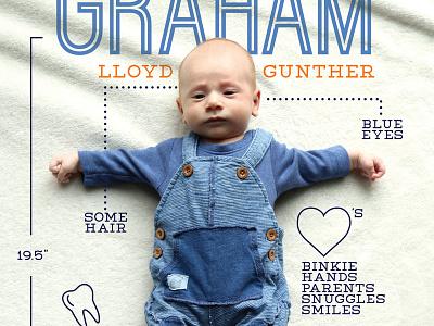 New Baby Infographic statistics chart graph newborn baby typography design infographic