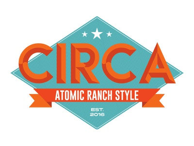 Circa logo business shape ranch refinishing furniture typography vintage retro logo