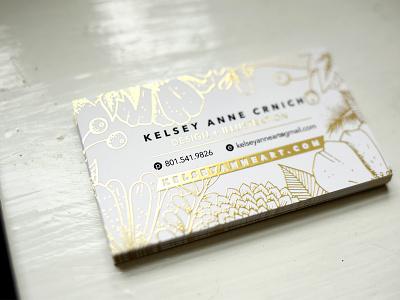 Business Card nature foil gold typography designer design illustration brand branding card business