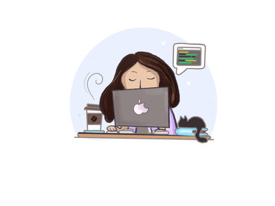 Female Programmer procreate ipad pro illustration art illustration design illustraion