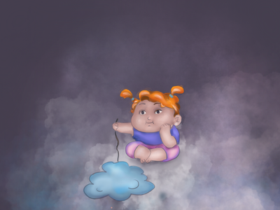 Clouds kids illustration design procreate ipad pro illustration
