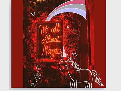 It's all about magic artwork photography magic unicorn design ipad pro illustration procreate