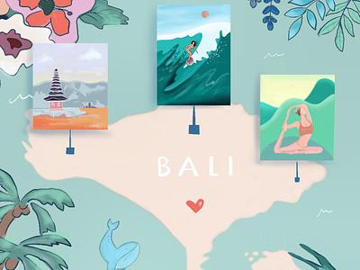 Bali Map digital illustration digital art illustration artwork design procreate ipad pro vacation indonesia bali maps map