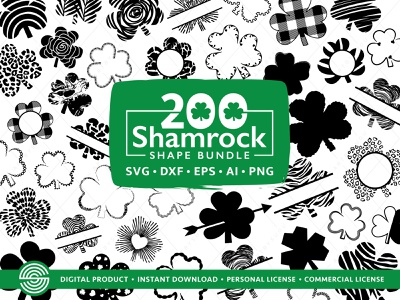 200 Shamrock shape SVG | St Patrick's Day Svg Bundle svg files for cricut svg design illustration vector lucky bundle svg st patricks bundle lucky svg shamrock clover svg irish svg st patrick clip art st patricks vector st patricks cut file st patricks svg