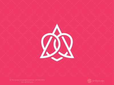 Letter A Heart Logo (for Sale) heart logo lettermark a logo letter a graphic design logoground icon logoforsale logodesign logotype symbol vector design logo unused logo ready made logo premade logo branding morden illustration