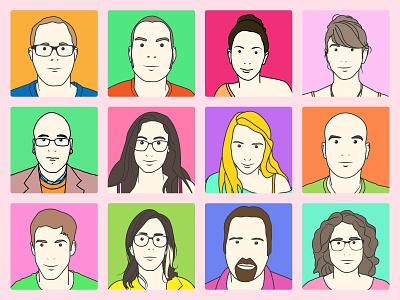 Matnas Interactive Team Members illustration