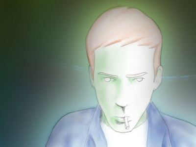 Self portrait with a cigarette cigarette kof