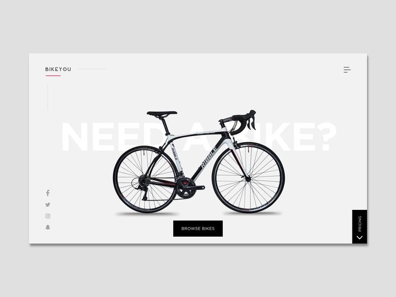 BikeYou - Bike rental SPA uidesign simple trending studio new popular clean black gray sport rental commerce africa nigeria minimalist web ui freelance invision design