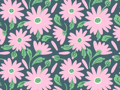 Vector seamless pattern of summer light pink blossoms and leaves fashion texture textile chamomile vector flowers summer shapes seamless pattern vector wrapping paper wallpaper flat leaves blossom surface surface pattern surface design seamlesspattern fabric
