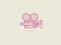 Movie camera element