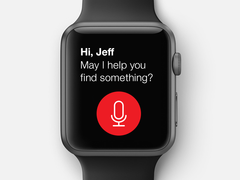 Project Q target app ios voice user interfaces natural language processing nlu vui voice shopping watch