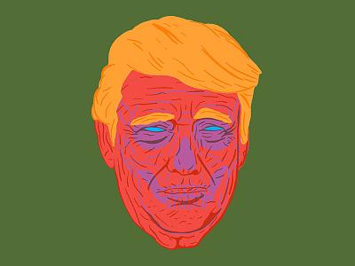 Donnie Death Cult president illustrator procreate portrait pdx portland illustration skull death trump
