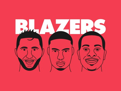 Blazers Up trail blazers nba futura portrait basketball mccollum lillard nurkic pdx blazers trailblazers portland