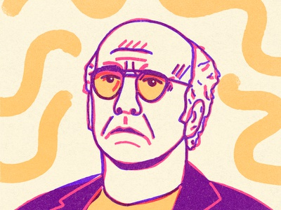 Larry David procreate anxiety comedy comedian illustration portrait curb your enthusiasm larry david seinfeld