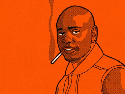 Dave Chappelle comedy stand up rick james prince celebrities halftone true grit illustration portrait comedians chappelle dave chappelle