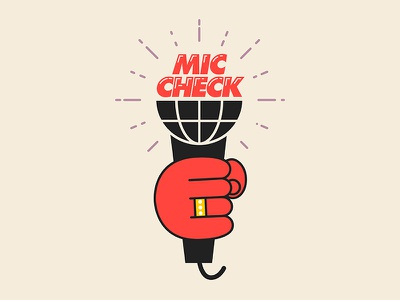 Mic Check logo design futura hands icons rap oregon portland hip-hop pdx logo