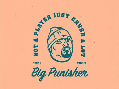 Big Pun logo photoshop illustrator procreate americana vintage portrait rap hip-hop