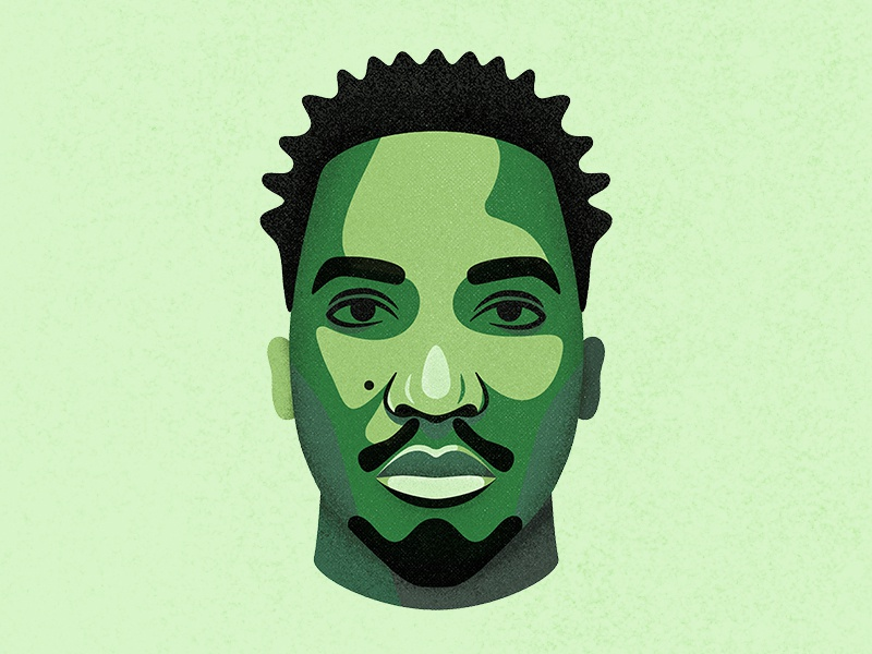 The Abstract beatmaker rapper hip-hop procreate illustration portrait a tribe called quest atcq q-tip