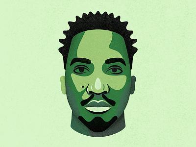 The Abstract beatmaker rapper hip-hop procreate illustration portrait a tribe called quest atcq q-tip