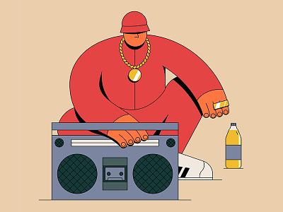 Cold Chillin' graffiti breakdancing djing mc dj pdx nyc portland 90s 80s illustrator retro adidas rap illustration hip-hop