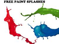 Free paint splashes