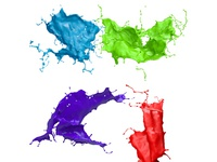3D paint splashes for free