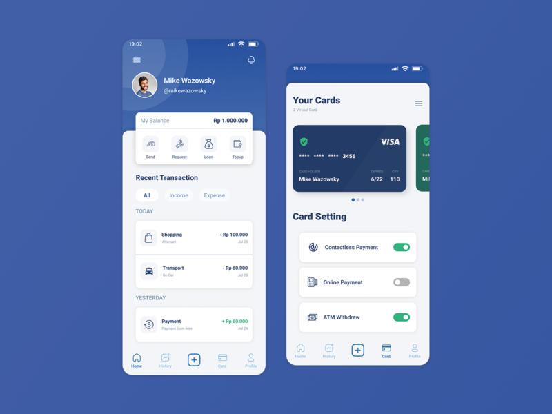 UI/UX Digital Wallet design ux ui
