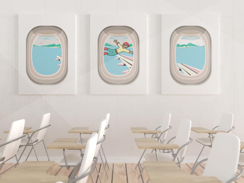 classroom flyawaynow travel digitalart digital digital art cartoon illustration digital illustration design vector illustration