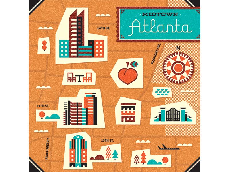 Southwest Airlines magazine editorial map atlanta georgia building