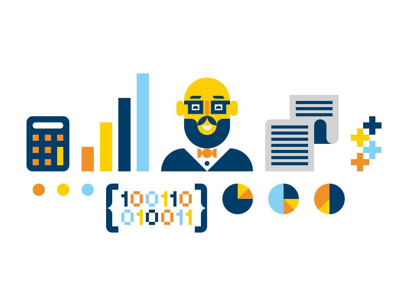 IBM new york graph analytics beard calculator chart binary character design