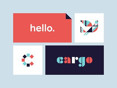 Cargo wilkins ty modern product palo alto san francisco tech app symbol lettering bird austin logo branding