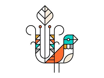 Banter sydney australia echidna linear line bird illustration