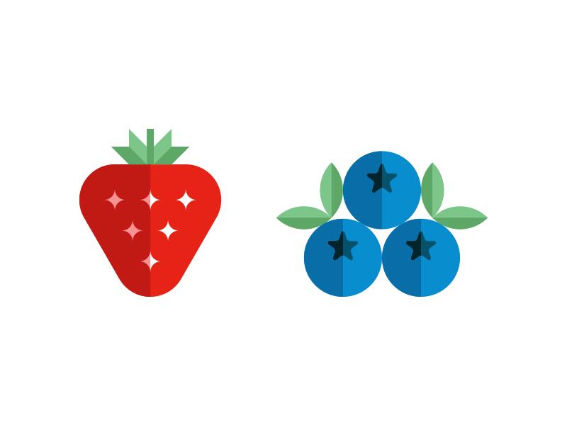 Flavor Illustrations modern food flavor pomegranate raspberry honey fruit blueberry strawberry